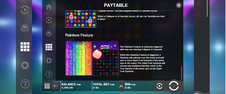 Jammin 'Jars - Rainbow Feature & Jam Jar Multipliers